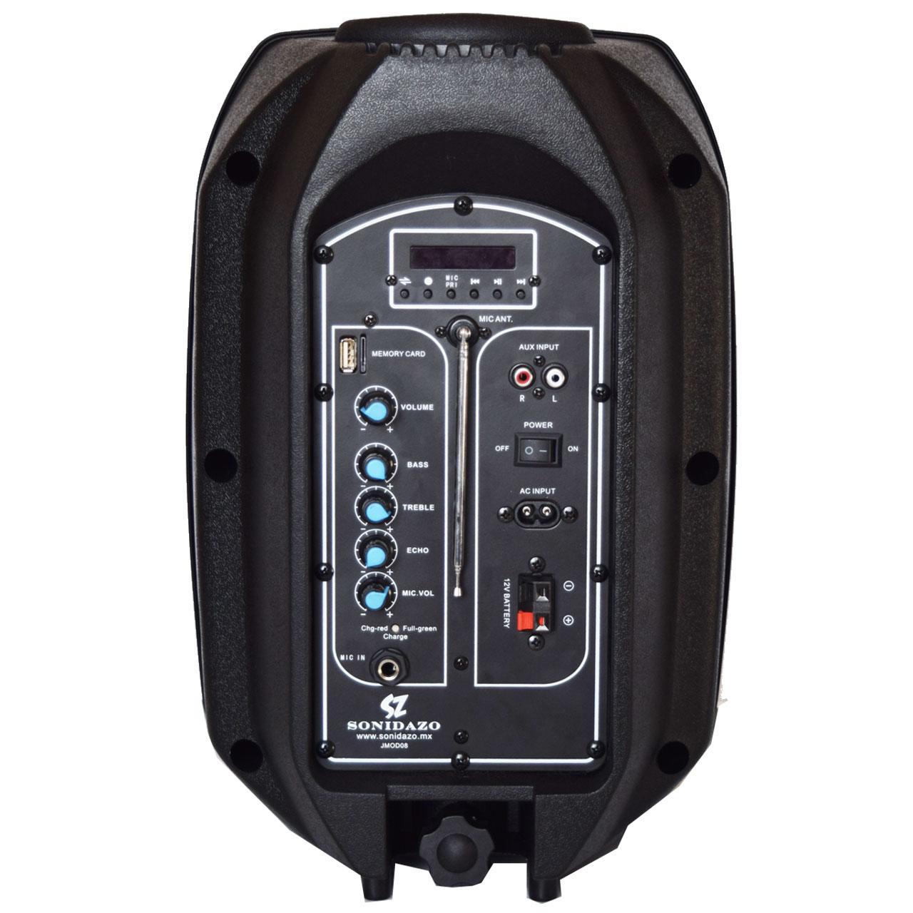 JSZ8 bafle amplificado 8 pulgadas recargable atras