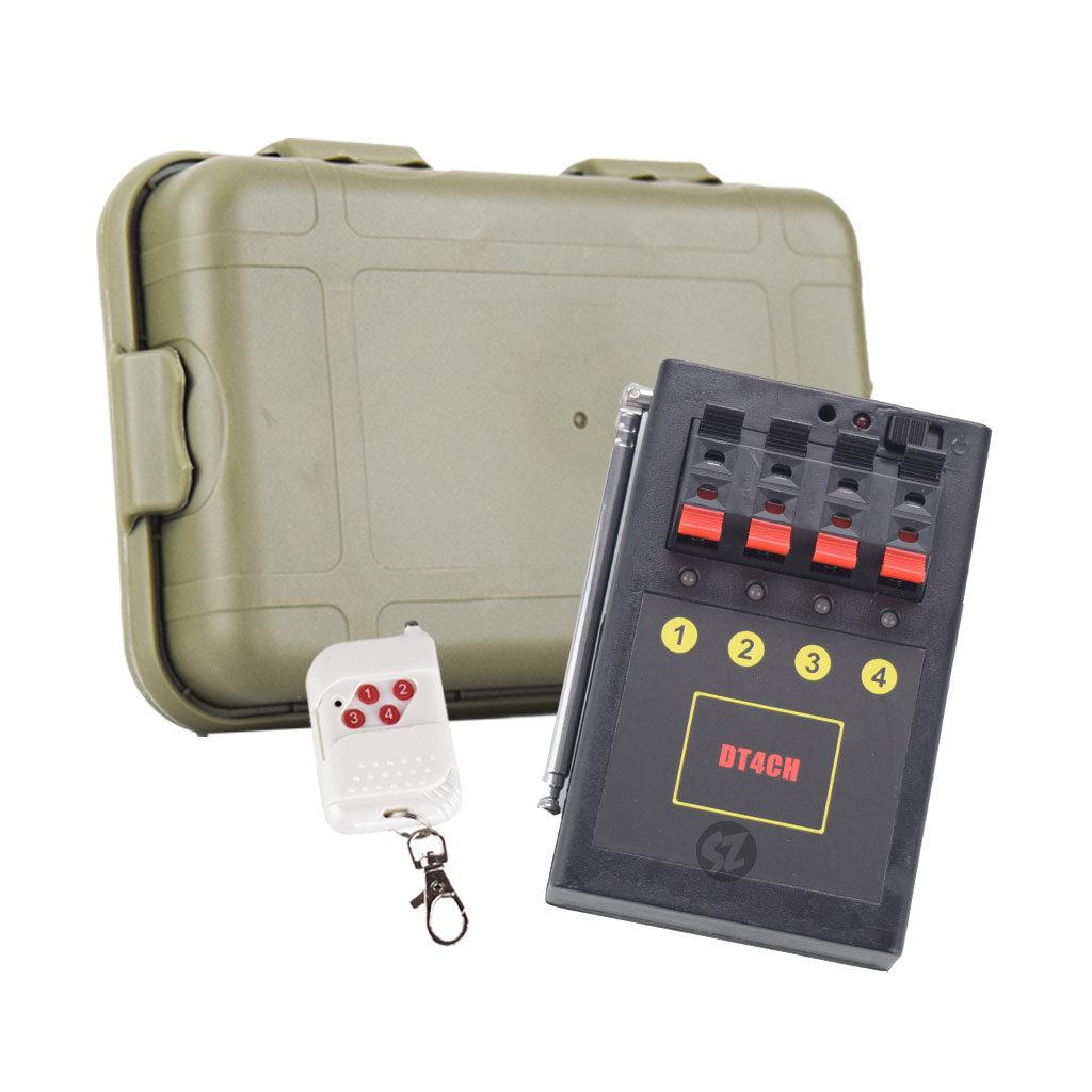 DT4CH Detonador chisperos 1 base 4 salidas, con case