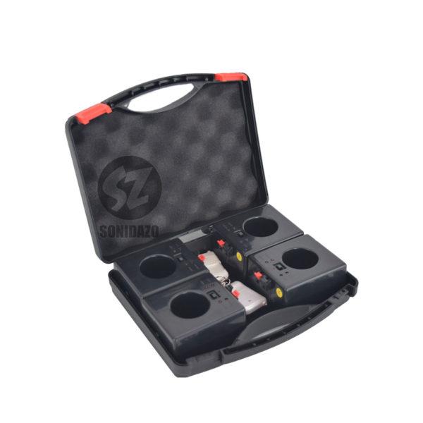 DT4REC Detonador chisperos inalámbrico recargable 4 base 4 salidas con case