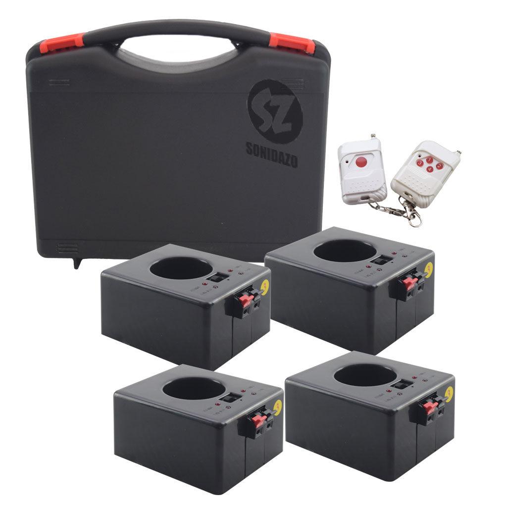 DT4REC Detonador chisperos inalámbrico recargable 4 salidas case