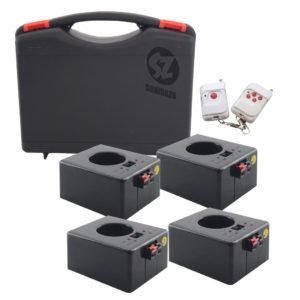DT4REC Detonador chisperos inalámbrico recargable 4 base 4 salidas case